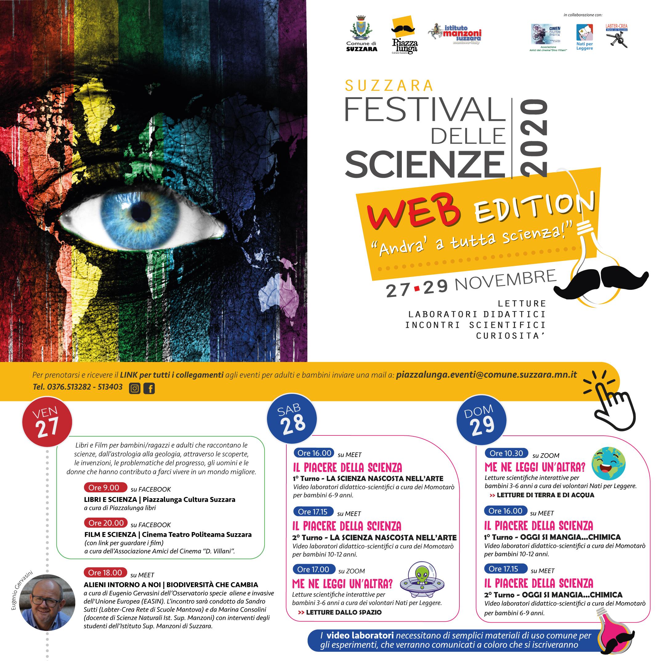 Festival delle scienze 2020 - Suzzara, MN , Mantova